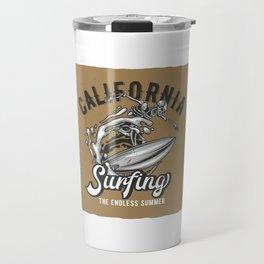 California Surfing Travel Mug