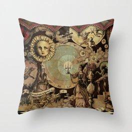 The mediaeval theater Throw Pillow