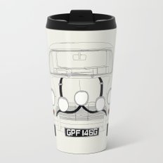The Italian Job White Mini Cooper Travel Mug