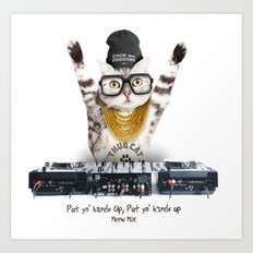 Thug Cat Art Print
