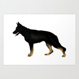 German Shepherd: Bicolor Art Print