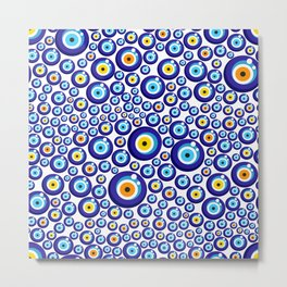 Evil eye pattern Metal Print