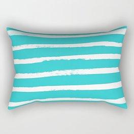 Simple Stripes - Aqua Rectangular Pillow