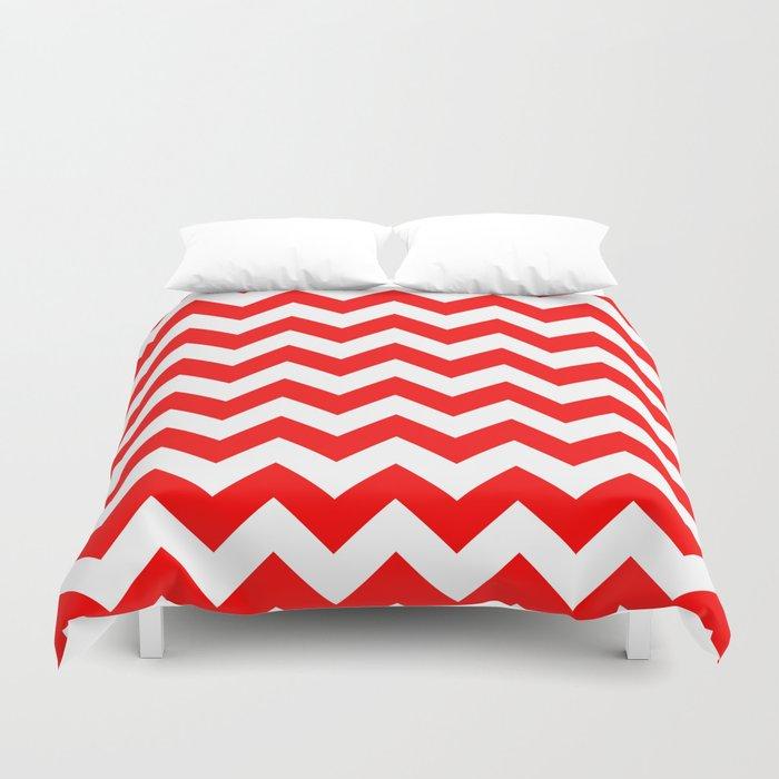 Chevron (Red/White) Duvet Cover
