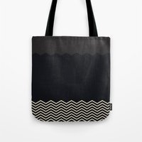 chevron Tote Bags featuring Chevron by Georgiana Paraschiv