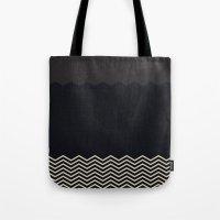 chevron Tote Bags featuring Chevron by Georgiana Paraschiv