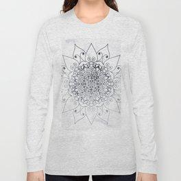 ELEGANT MANDALA IN GRAY Long Sleeve T-shirt