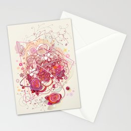 Floral universe orbit Stationery Cards