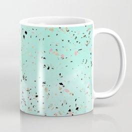 Mint and gold marble terrazzo design Confetti Coffee Mug