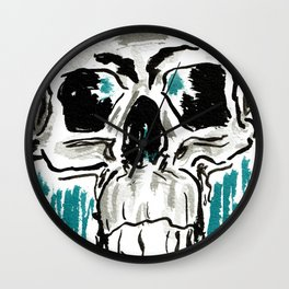 Learn: Skull Wall Clock