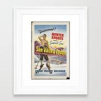 skiing Framed Art Prints featuring SKIING by Kathead Tarot/David Rivera