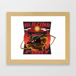 BLAZING FURY Framed Art Print