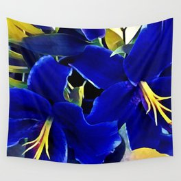 Blue Lilies Wall Tapestry