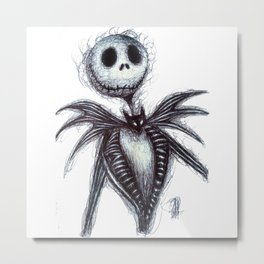Jack Skellington scribble Metal Print