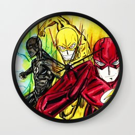 Flashes and lights Wall Clock