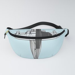 Airplane Sketch Fanny Pack
