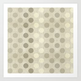"""Nude Burlap Texture and Polka Dots"" Art Print"