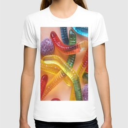 Go and Eat Worms :) Gummy Worms Candy T-shirt