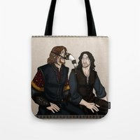 aragorn Tote Bags featuring Gondor Humour by wolfanita