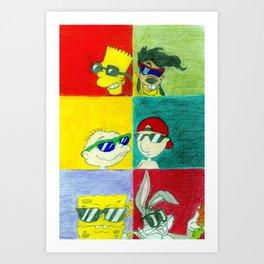 90s Cool Kids Art Print