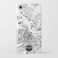 amsterdam iPhone & iPod Cases featuring AMSTERDAM by Maps Factory