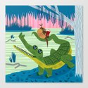 The Alligator and The Armadillo by oliverlake