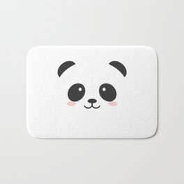 black and white panda Bath Mat