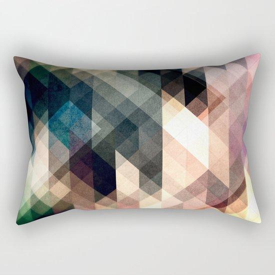 Textured Geometric Abstract Rectangular Pillow