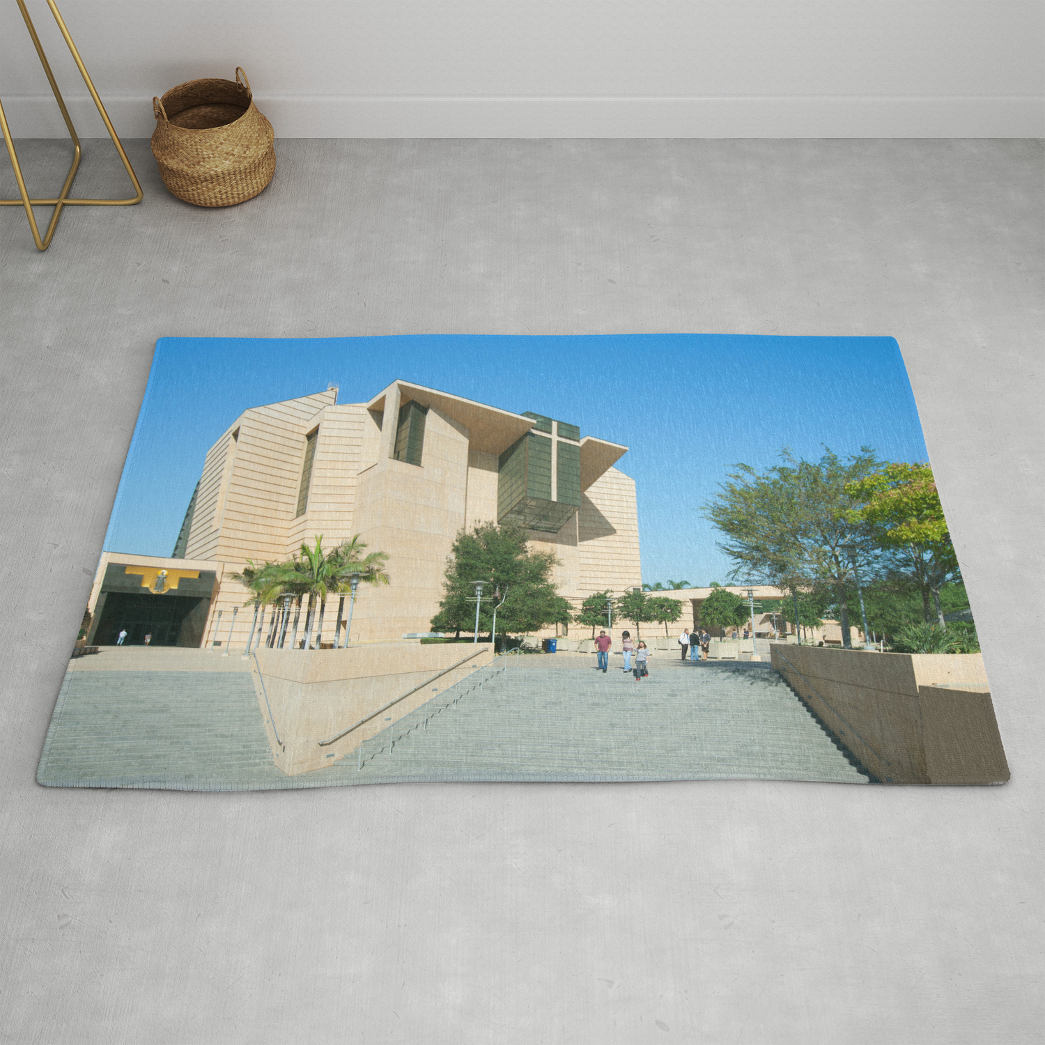 Cathedral Of Our Lady Of The Angels Los Angeles California Rug By Ramvasudev Society6