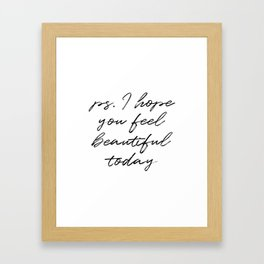 Beauty Quote Framed Art Print