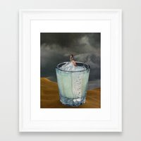 drink Framed Art Prints featuring DRINK by Beth Hoeckel