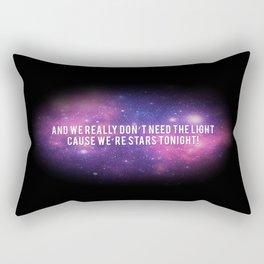 """We're stars tonight"" Rectangular Pillow"