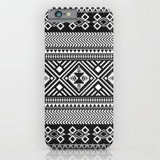 Monochrome Aztec inspired geometric pattern Slim Case iPhone 6s