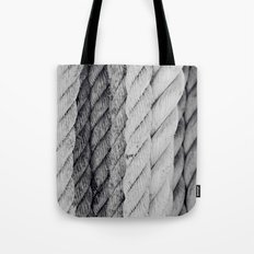 Ropes Black and White Nautical Tote Bag
