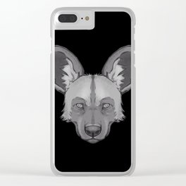 Icons of Africa - African Wild Dog Clear iPhone Case