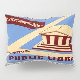 Vintage poster - Book Week Pillow Sham