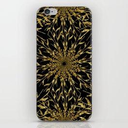 Black Gold Glam Nature iPhone Skin