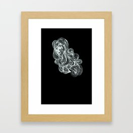 Hair I Framed Art Print