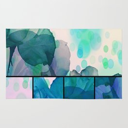 Abstract Roses Rug