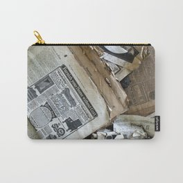 Old Newspaper Left to the Elements...Furnish Your Home in Style Carry-All Pouch