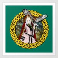 goddess Art Prints featuring Goddess by Astrablink7