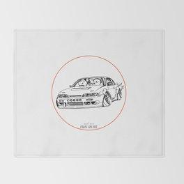 Crazy Car Art 0201 Throw Blanket