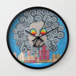 MoodyMan over Detroit Wall Clock