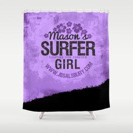 Mason's Surfer Girl Shower Curtain