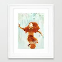 aang Framed Art Prints featuring Avatar Aang by drawnerys