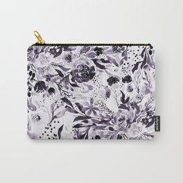 Flower Joy in B+W Carry-All Pouch