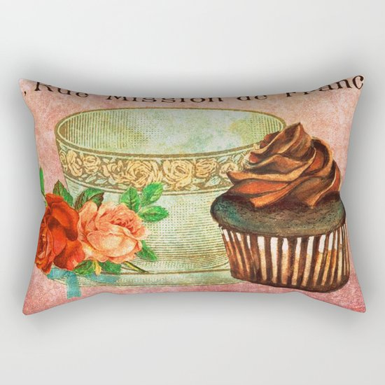 Sweets Vintage Poster 03 Rectangular Pillow