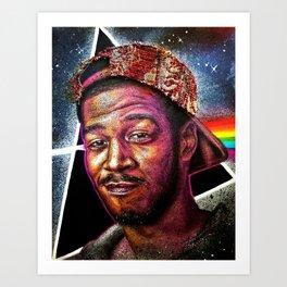Man On The Dark Side Of The Moon Art Print