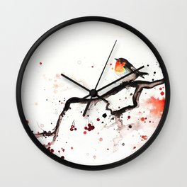"The tiny wings ""The robin"" Wall Clock"