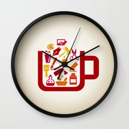 Art a cup Wall Clock